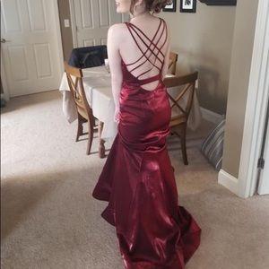 Clarissa lace up back dress